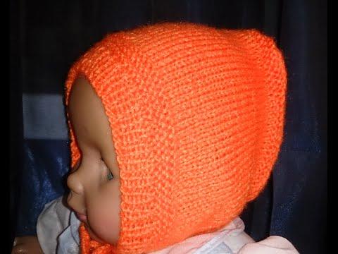 вязание спицамипростой способ связать чепчик для новорожденного