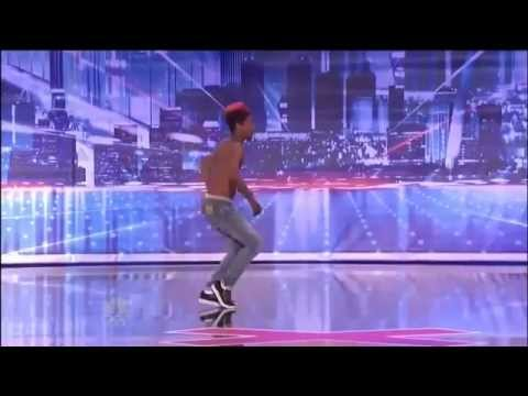 Amazing Street Dancer On Americas Got Talent! Homeless) Turf _ Retro - YouTube
