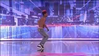 Amazing Street Dancer On Americas Got Talent! Homeless) Turf _ Retro