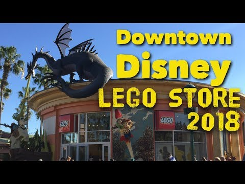 Lego Store Downtown Disney 2018 Store Tour Walkthrough
