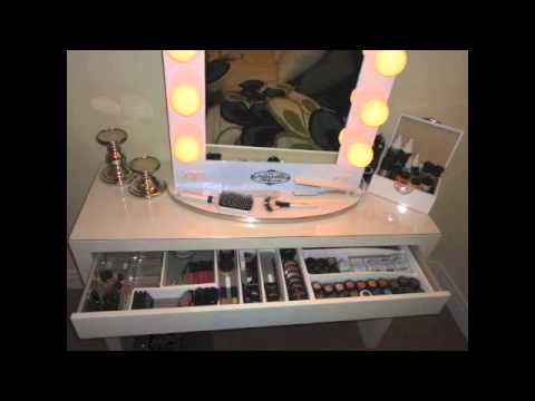 vanity girl hollywood mirror my unfinished project youtube. Black Bedroom Furniture Sets. Home Design Ideas