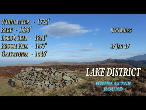 Lake District Wainwright Walks - Whinlatter, Barf, Lord's Seat, Broom Fell & Graystones