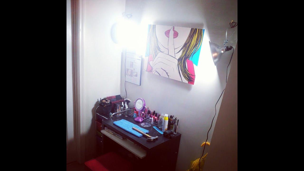 Easy DIY Video or Makeup Lighting & Easy DIY Video or Makeup Lighting - YouTube
