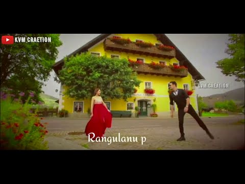 Sandhello akasham rangulanu poli || new whatsapp status video || Love status