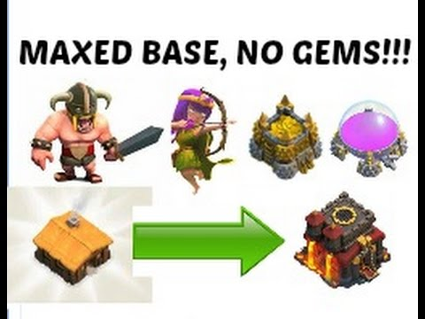 Clash of Clans - How to Max out your Base Without Gems!!!