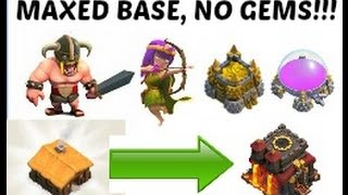 Repeat youtube video Clash of Clans - How to Max out your Base Without Gems!!!