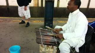 NYC subway musician - Central African balafon