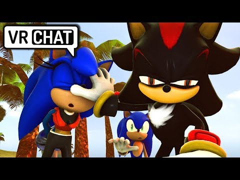 Female Sonic, Sonic & Shadow Visit The Beach! (VR Chat)