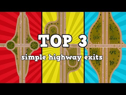TOP 3 simple highway exits in Cities: Skylines [Vanilla / no mods tutorial] thumbnail