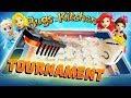 Disney Princess Bugs In The Kitchen Game! Elsa, Ariel, Rapunzel & Belle play for Toy Surprises!