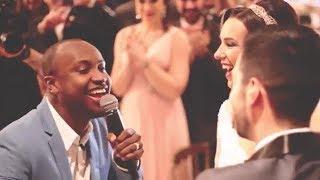 """Thiaguinho invade casamento e canta """"Ainda Bem"""""""