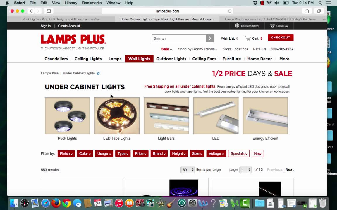 Lamps Plus Coupon verification by I'm in for 5 13 15