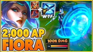 *NEW PULSEFIRE* 2,000+ AP PENTAKILL RAGE (FIORA IS A MAGE NOW) - BunnyFuFuu   League of Legends