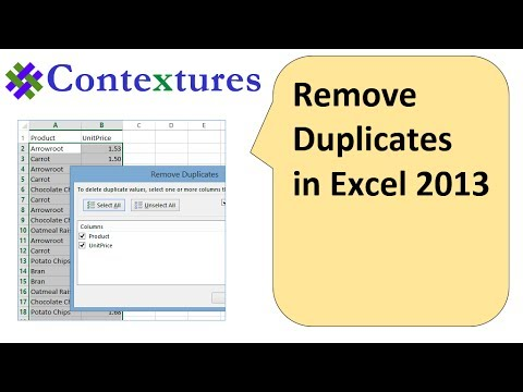 excel how to search for duplicate entries