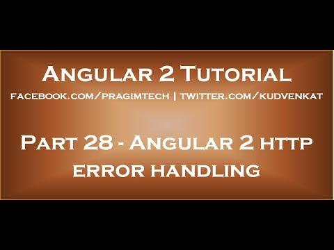 Angular 2 http error handling