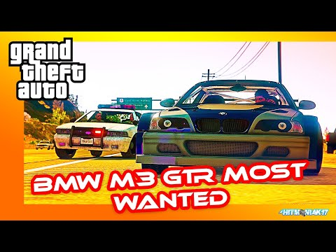 Police Chase BMW M3 GTR  From NFS Most Wanted⭐ GTA 5 Cinematic With Rap/Rock