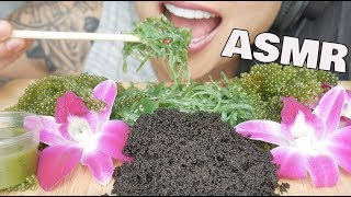 ASMR *BEST CRUNCH #2 SQUID INK Tobiko eggs + SEAGRAPES (EXTREME EATING SOUNDS) NO TALKING | SAS-ASMR