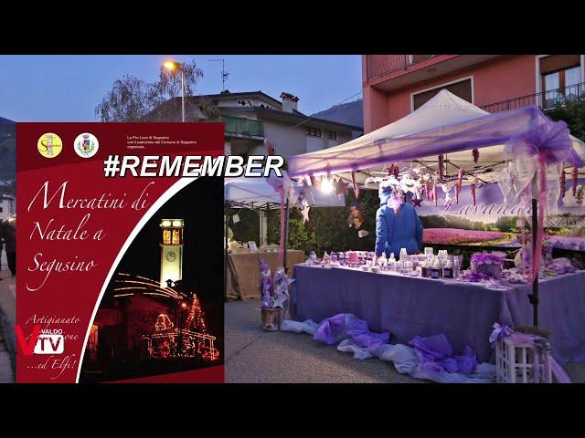 Ricordando i Mercatini di Natale a Segusino (TV)