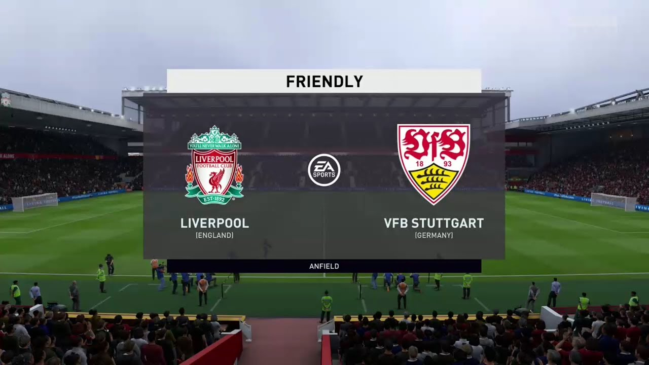Fifa 20 Liverpool Vs Vfb Stuttgart Pre Season Friendly Prediction Youtube