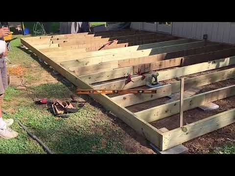 Rebuilding A Ground Level Wood Deck Youtube