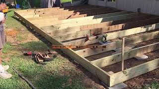 Rebuilding a Ground Level Wood Deck