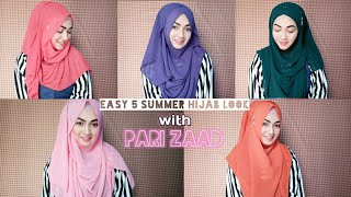 5 Easy Summer Hijab look with Viscous Jorjet Hijab | Pari ZaaD