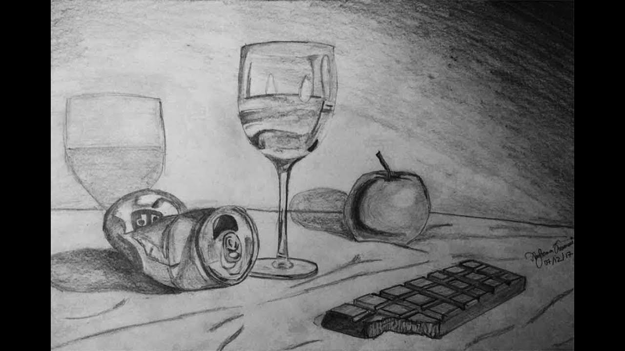 How to sketch still life pencil drawing