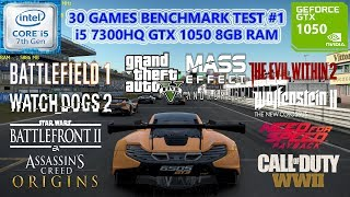 MSI GL62M 7RD i5 7300HQ GTX 1050 8GB RAM (30 Games Benchmark Test #1)