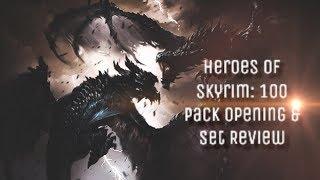 Heroes of Skyrim - Card Reviews + 100 Pack Opening!   Elder Scrolls Legends