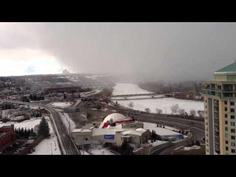 Calgary snow globe