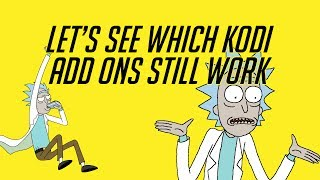 So what Kodi add ons work post Dish Network Lawsuit | Testing the TVAddons.ag add ons.
