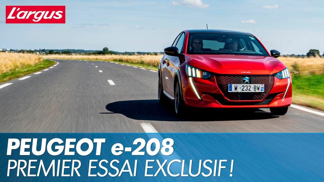 Essai Peugeot E 208 Premier Test De La 208 Electrique