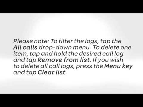 View, Clear the Call History Log on the Motorola BRAVO™ - Android™ 2 2:  AT&T How to Video Series