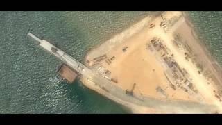 Керченский мост 2017 мост растет стремительно  вид с спутника 23 Февраля 2017