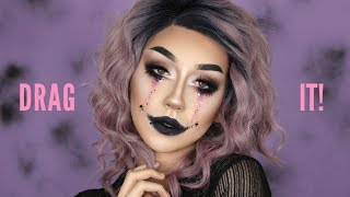 DRAG IT! Halloween Glam Drag Makeup Tutorial || Damn Tee