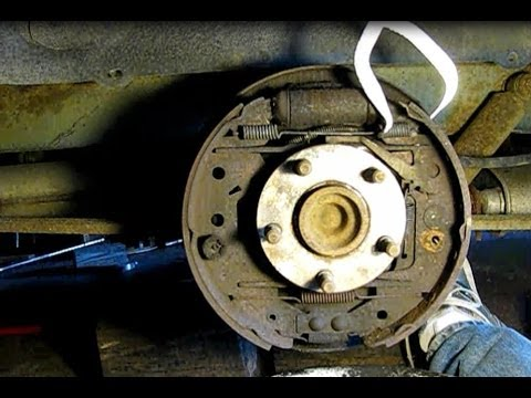 how to rebuild the rear brakes on a caravan, voyager, town and country part  2: disassembly