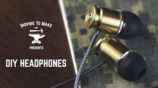 DIY Headphones(Subscribe - http://bit.ly/1BZpocT ▷ Buy bullet headphones here: http://amzn.to/1Okz5Fb ▷ and here: http://amzn.to/1OkzhEj http://inspiretomake.com ▽ Learn ..., 2014-12-05T06:29:10.000Z)