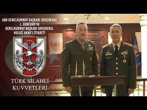 ABD Genelkurmay Başkanı Orgeneral J. DUNFORD'ın Genelkurmay Başkanı Orgeneral Hulusi AKAR'ı Ziyareti