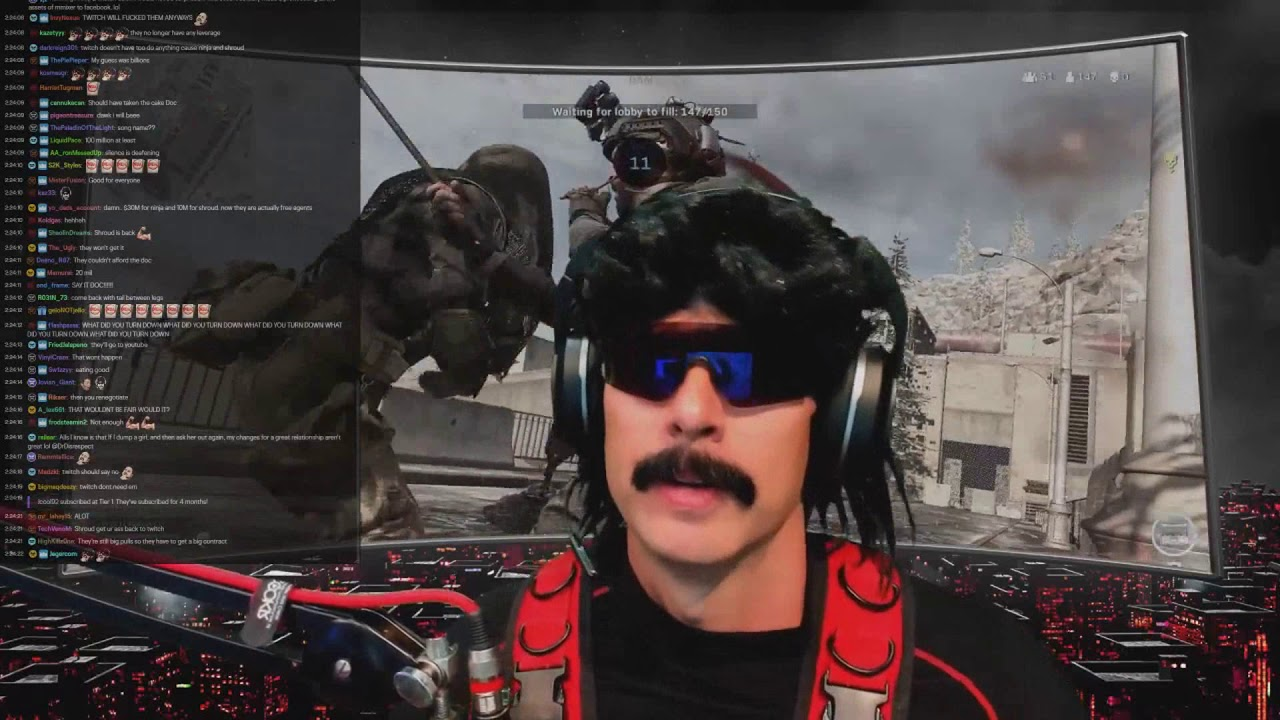 DrDisrespect Reacts to Microsoft Shutting Down Mixer