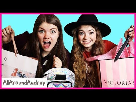 Audrey and Jordan Sisters Buy Outfits For Each Other Shopping Challenge / AllAroundAudrey