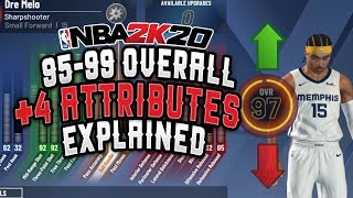 NBA 2K20 95-99 Overall + 4 Attributes Explained (things you know & may not know)
