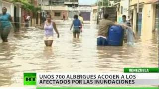 Las fuertes lluvias hacen estragos en Venezuela