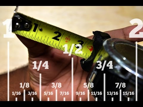 How To Read Standard Tape Measure