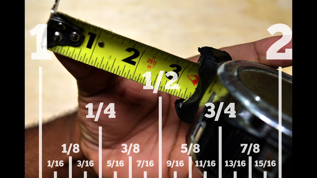 How To Read A Standard Tape Measure