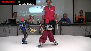 Robot sword fighting