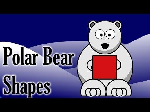 Polar Bear Shapes | polar animal game for children