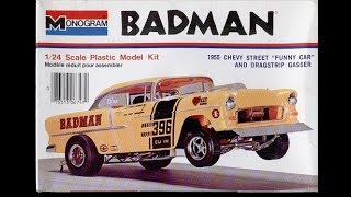 Monogram 1955 Chevy BADMAN 1/25 Model Kit Complete