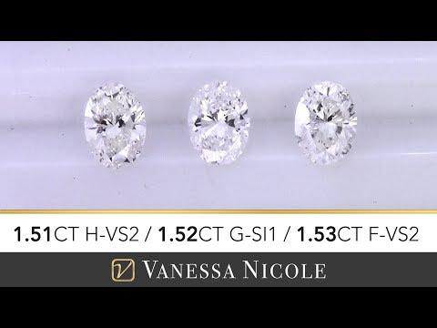 1.50ct OVAL CUT DIAMONDS | Oval Shape Size Comparison | Diamond Selection for Brandon