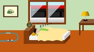 寝台電車と踏切 | こどもアニメ thumbnail