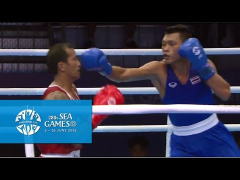 Boxing (Day 3) Men's Light Welter Wt. (64kg) Semifinals Bout 58 | 28th SEA Games Singapore 2015
